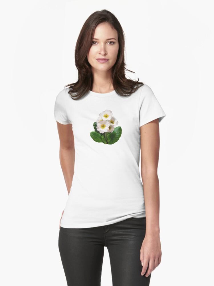 Small White Primroses by Susan Savad