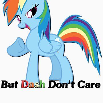 Rainbow Dash doesn't care by DarthAjFox