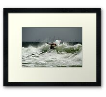 Warming Up For The Quiksilver Pro 2013 Framed Print