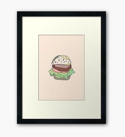 Retro Abstract Burger Framed Print