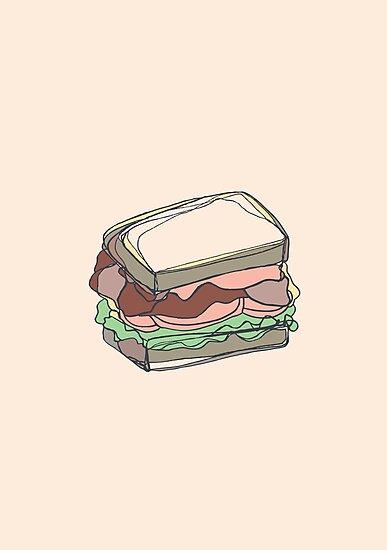 Retro Abstract Sandwich by Todd Fischer
