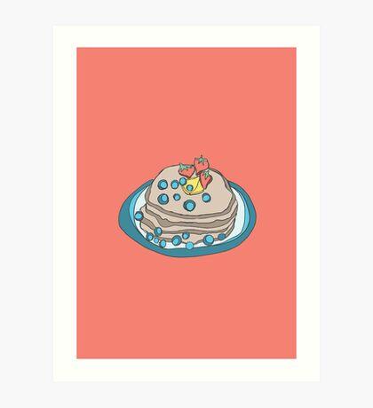 Retro Abstract Pancakes Art Print