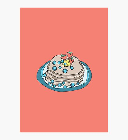 Retro Abstract Pancakes Photographic Print