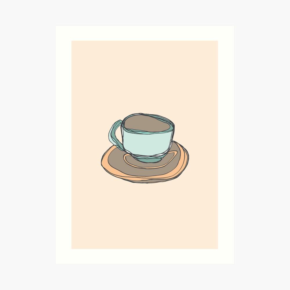 Retro Abstract Coffee Art Print