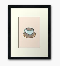 Retro Abstract Coffee Framed Print
