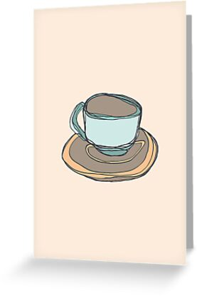 Retro Abstract Coffee by Todd Fischer