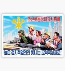North Korean Propaganda - All Together Sticker