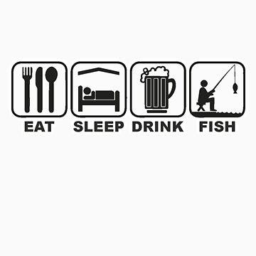 FISHING - EAT SLEEP FISH by JAYSA2UK