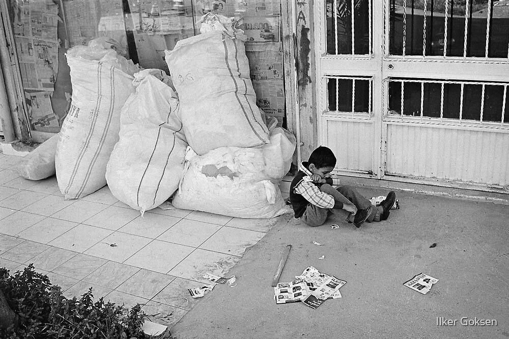Child Playing Alone by Ilker Goksen