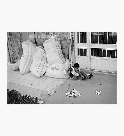 Child Playing Alone Photographic Print