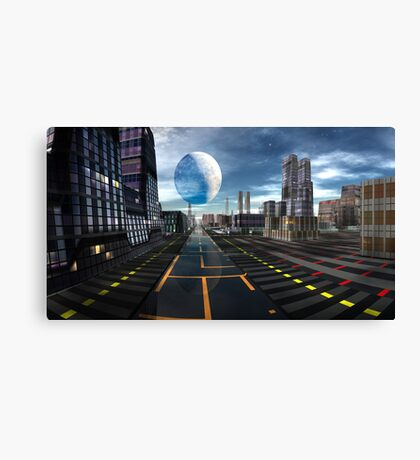 Floating Moon Canvas Print