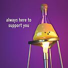 Always Here to Support You - Trivet - Cute Chemistry by chayground