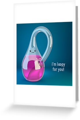 I'm Loopy For You - Klein Bottle - Cute Chemistry by chayground