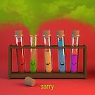 Sorry - Test Tubes - Cute Chemistry by chayground