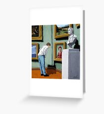 Woman Viewing Art - figurative oil painting Greeting Card