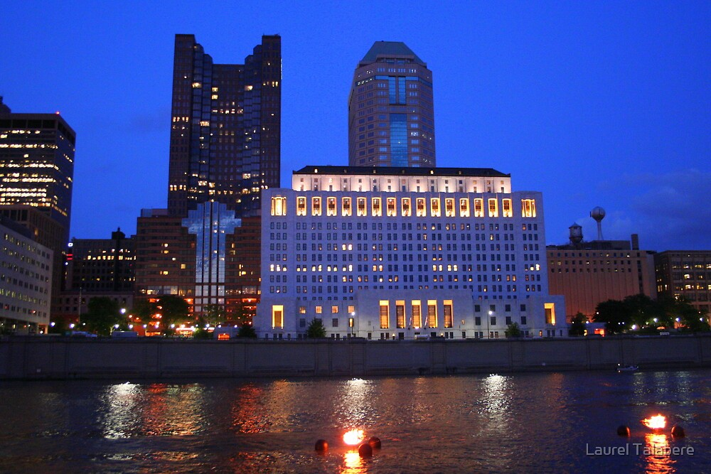 Along the Scioto River at Night by Laurel Talabere