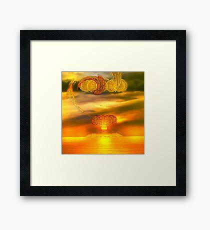 Sunset fractal Framed Print