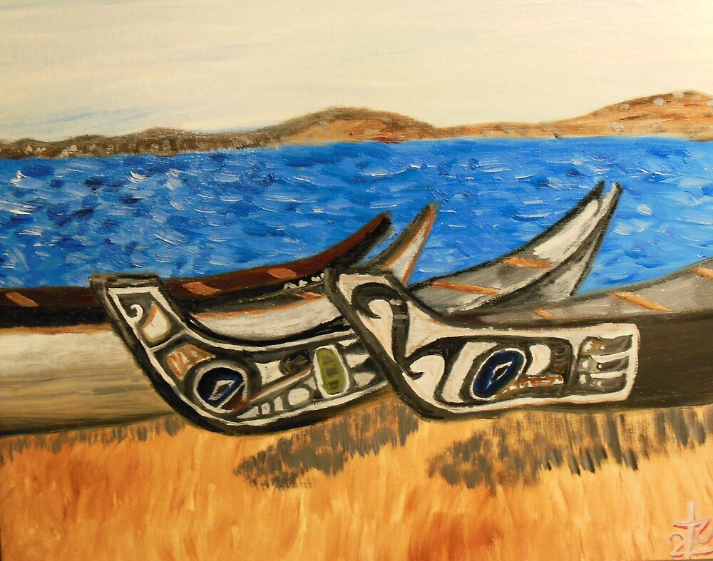native kayaks in washington by FifthColumnArt