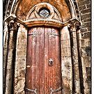 Old bronze door by Beverly Cash