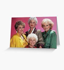Klassische goldene Mädchen Grußkarte