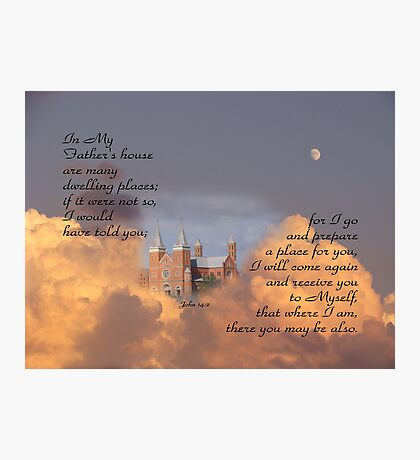 In My Father's house-John 14:2 Photographic Print