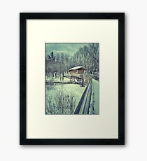 Wooden Covered Bridge, Bridgton Maine Framed Print
