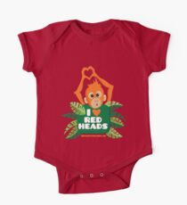 I heart (love) redheads  One Piece - Short Sleeve
