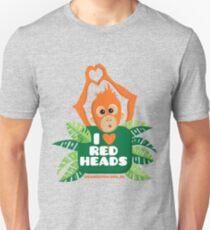 I heart (love) redheads  Slim Fit T-Shirt