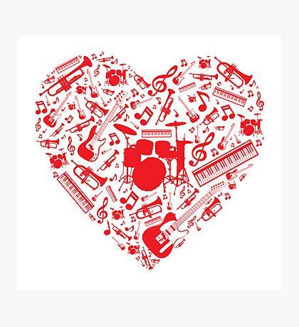 Music Love Photographic Print