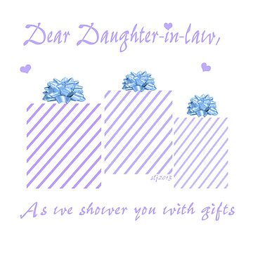 Showering you with gifts Daughter-in-law Blue by budrfli