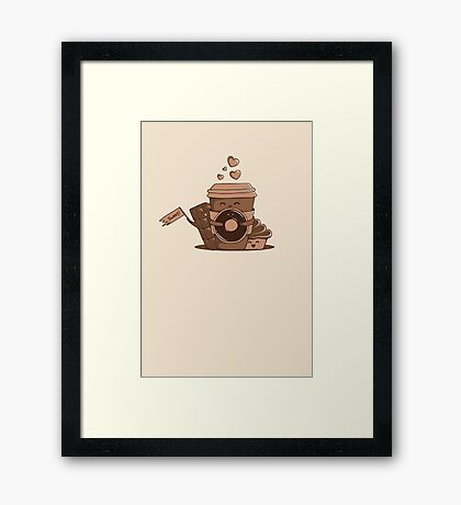Caffeinated Love Framed Print
