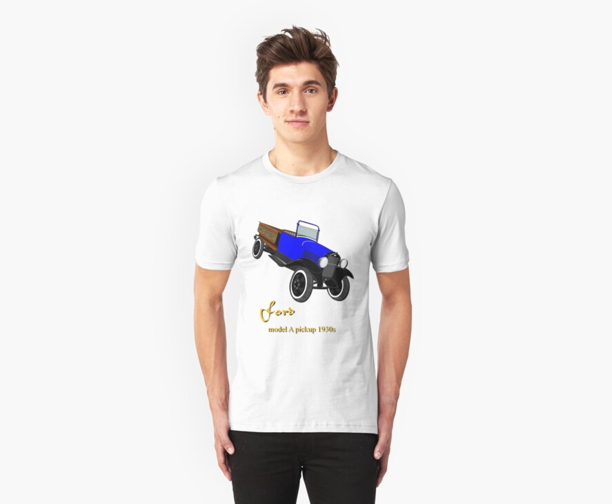 Ford model A pick-up T-shirt design by Dennis Melling