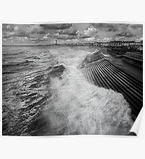 Blackpool promenade Poster
