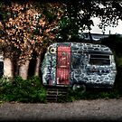 Painted trailer by Beverly Cash