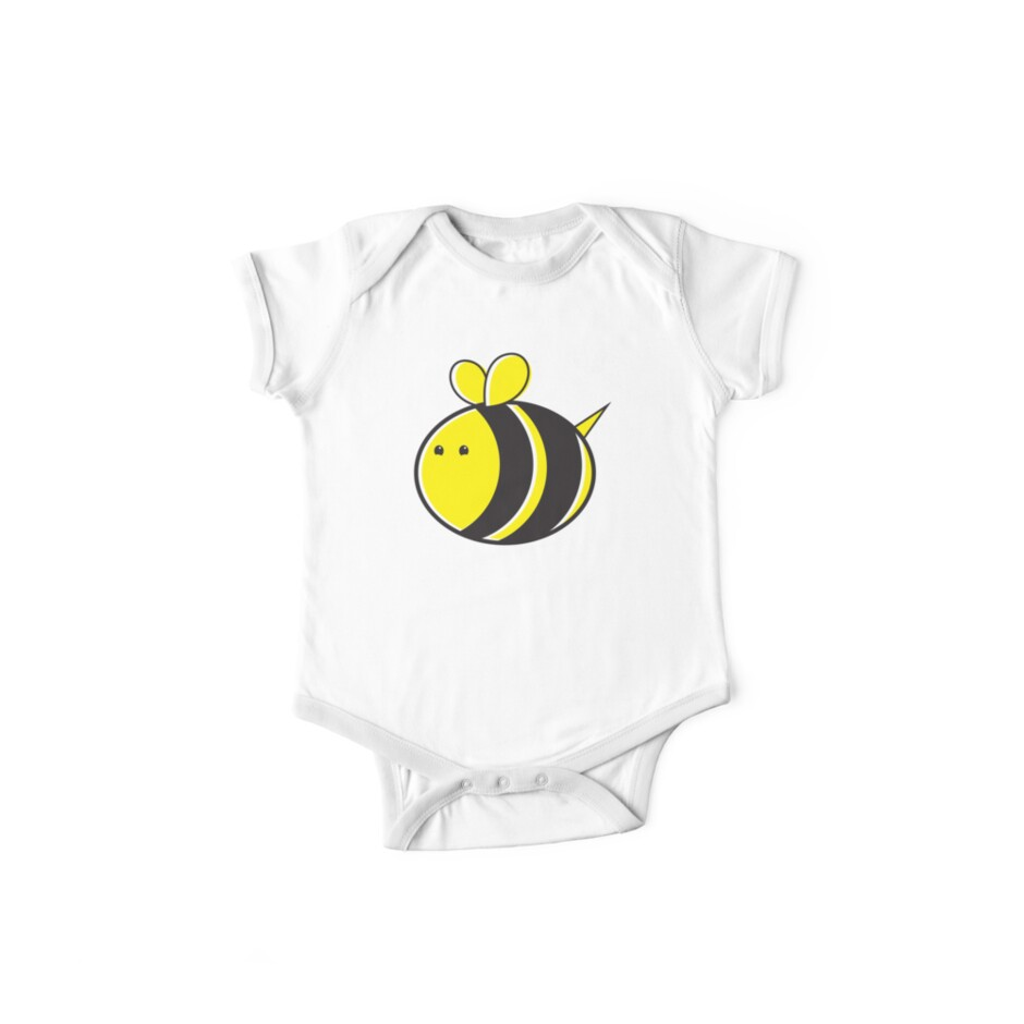 Cute little bumble fat bee by jazzydevil