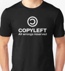 Copyleft All wrongs reserved Unisex T-Shirt