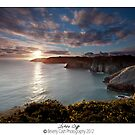 Lydstep cliffs by Beverly Cash