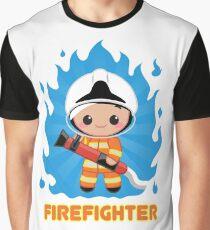 Fire Fighter Orange Graphic T-Shirt