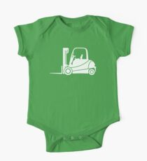 Forklift Truck Silhouette One Piece - Short Sleeve