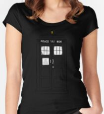 Tardis (trashy) Women's Fitted Scoop T-Shirt