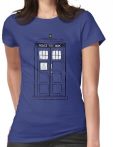 Tardis (trashy) Womens Fitted T-Shirt