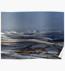 Above Scarhouse and Angram Reservoirs Poster