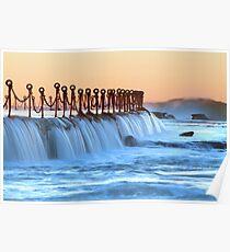 Newcastle baths Poster