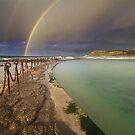 Rainbow over the canoe pool by benivory