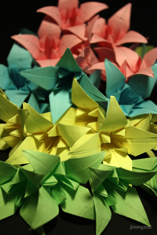 Origami Flowers #1-5 by jimmyzoo