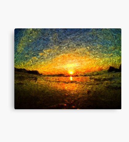 sunrise impressionism Canvas Print