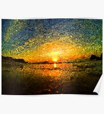 sunrise impressionism Poster