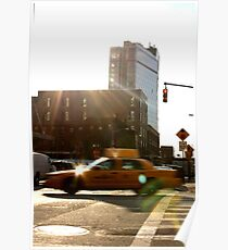 Taxi in West Village Poster