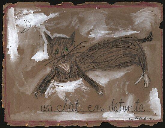 un chat en détente by John Douglas