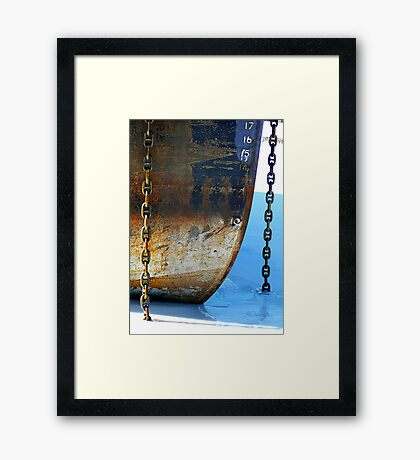 The Old Bow n Chains Framed Print